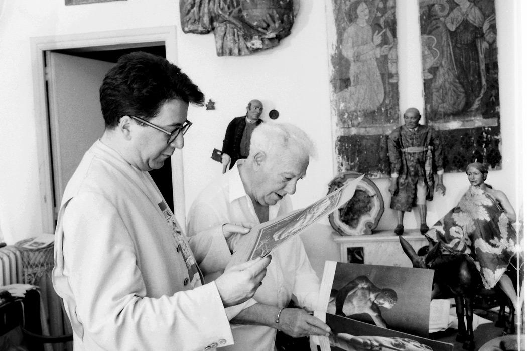 LAdeV con Julio Aumente. 1990