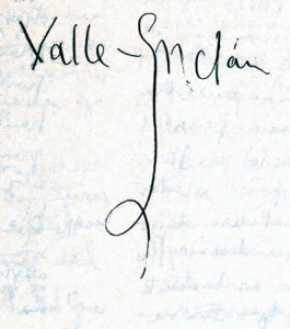 Valle-Inclan firma