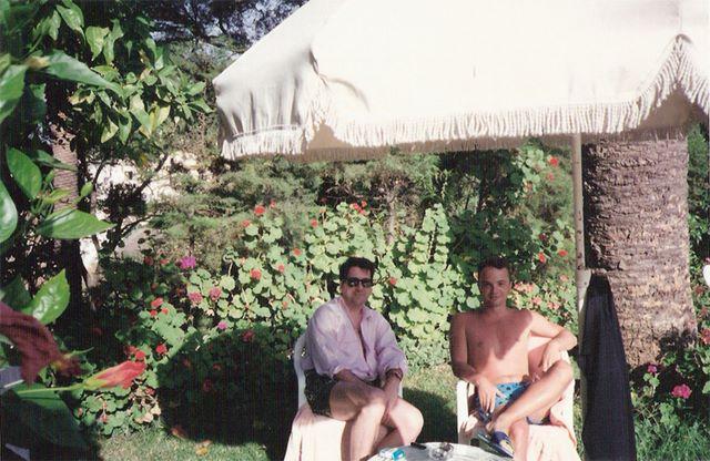 Con Luis Muñoz, Tánger, julio 1992