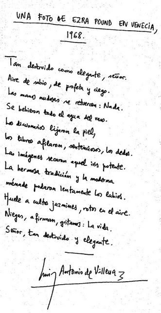 Poema manuscrito