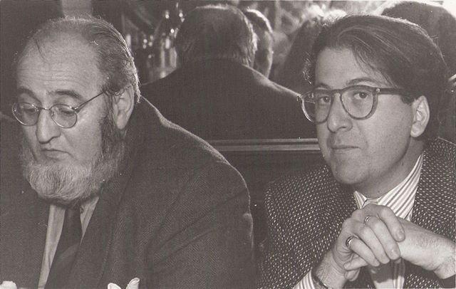 Con Álvaro Pombo. Diciembre 1988