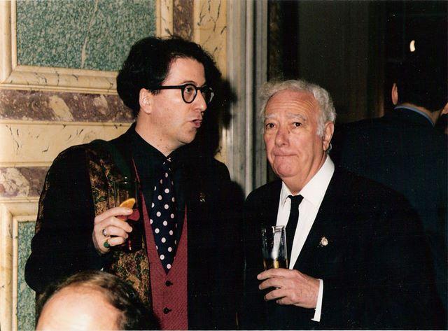 Con Julio Aumente, Madrid, Febrero 1993