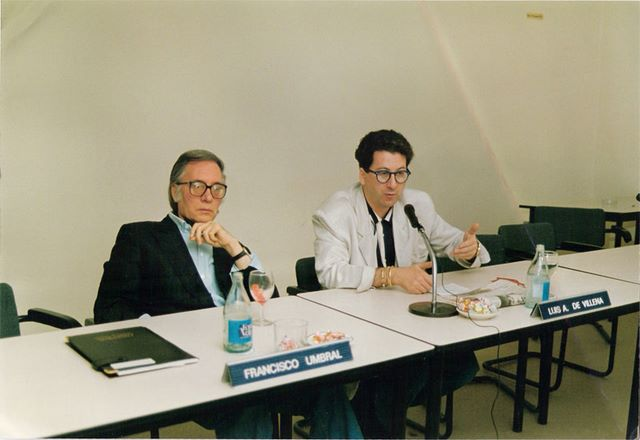 Con Francisco Umbral, El Escorial, Julio 1989