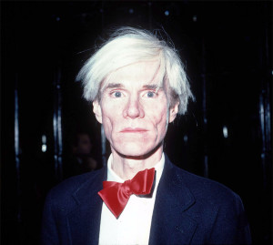 370636 01: Andy Warhol at Studio 54 in New York City, October 1981.
